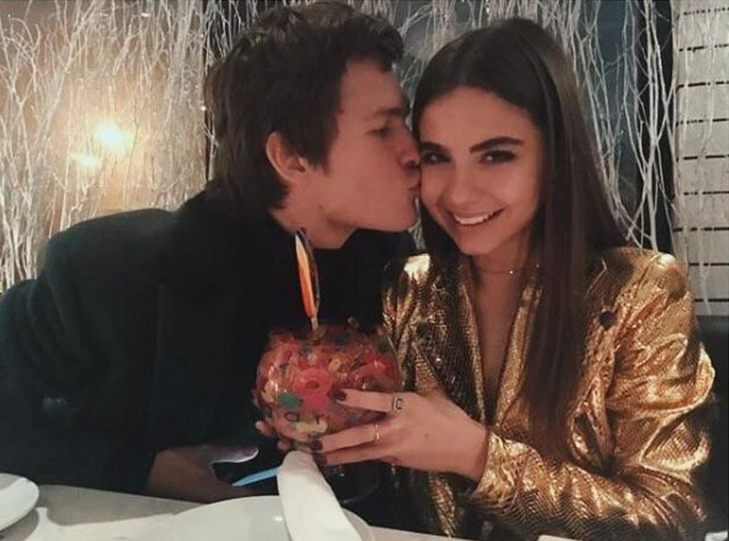 Ansel Elgort, Violetta Komyshan