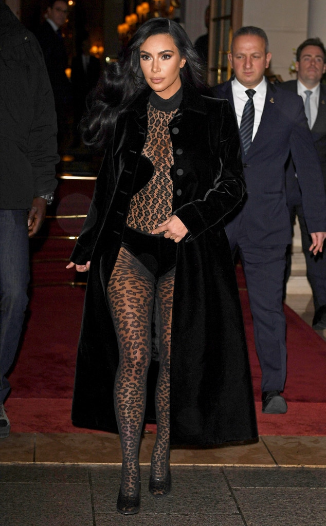 Kim Kardashian, Paris Fashion Week, 2019