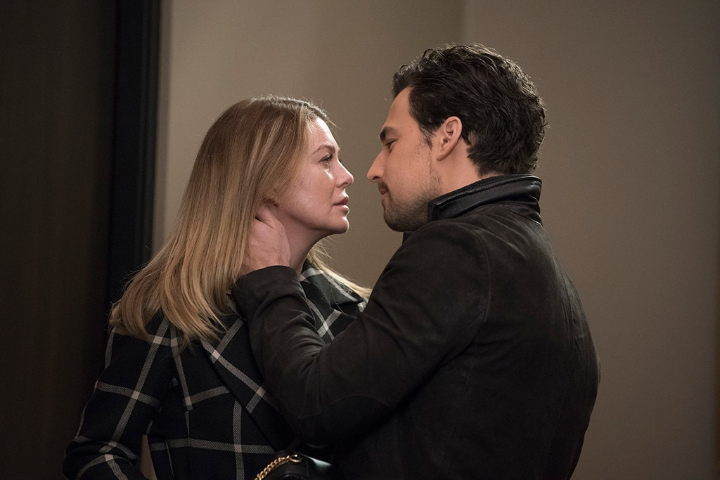 Meredith and Andrew -  Meredith ( Ellen Pompeo ) and DeLuca ( Giacomo Gianniotti ) seem to be going strong after a little bit of a blip regarding his dad. At least for now, they're having fun, and that is our number one wish for the previously tortured Meredith Grey.