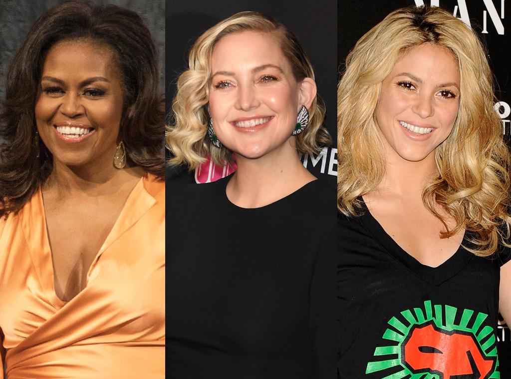 Michelle Obama, Kate Hudson, Shakira
