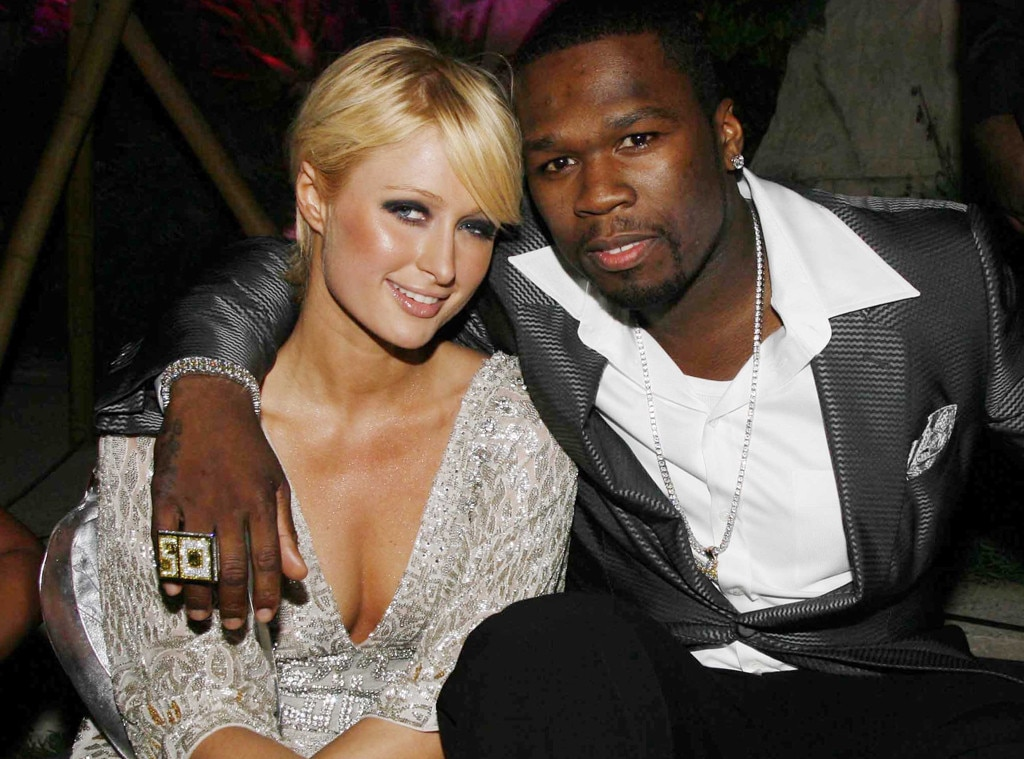 Paris Hilton & 50 Cent -  Dynamic duo alert? The socialite and rapper party the night away at a Cannes Film Festival party hosted by Baby Phat in 2006.