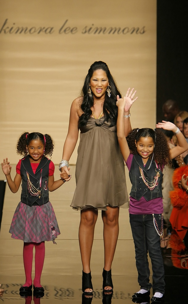 Kimora Lee Simmons -  The designer and her two daughters take one finalstrut down the Baby Phat catwalk.