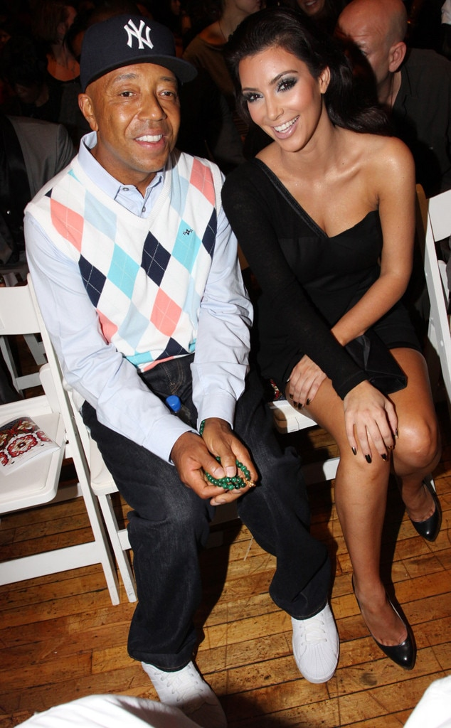 Russell Simmons & Kim Kardashian -  Kimora Lee Simmon's ex and the E! reality star sit front row for one of Baby Phat's final presentations in 2009.