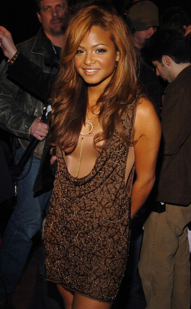 """Christina Millian -  The """"Dip It Low"""" songstress is bronzed from head to toe at Baby Phat's fashion show in 2006."""