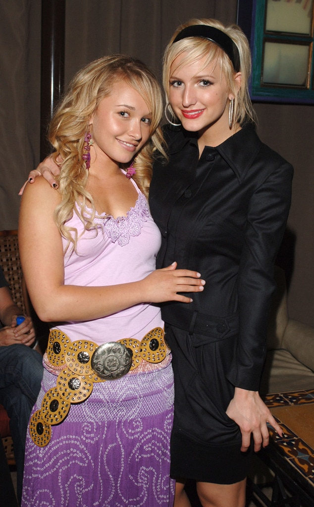 Hayden Panettiere & Ashlee Simpson-Ross -  The teen queens pair up at a Teen People  bash hosted by Baby Phat.