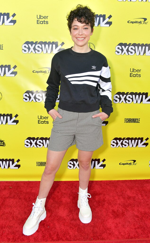 Tatiana Maslany -  Tatiana Maslany looks hip before the premiere of her upcoming movie,  Pink Wall.
