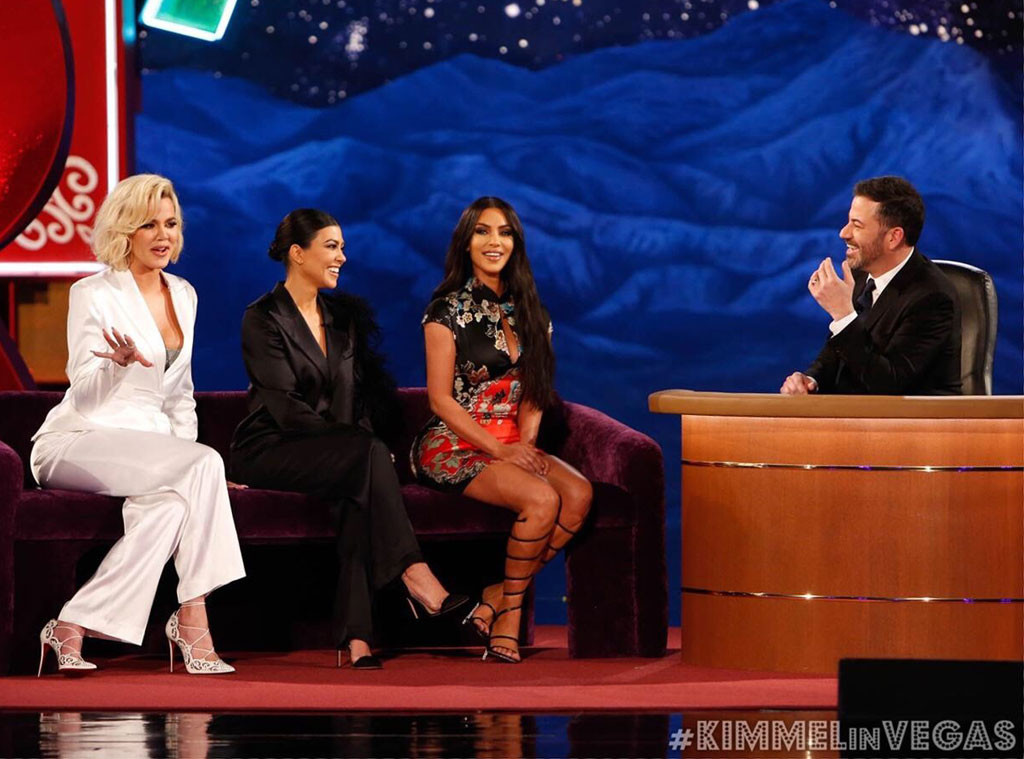 Kim Kardashian, Khloe Kardashian, Kourtney Kardashian, Jimmy Kimmel