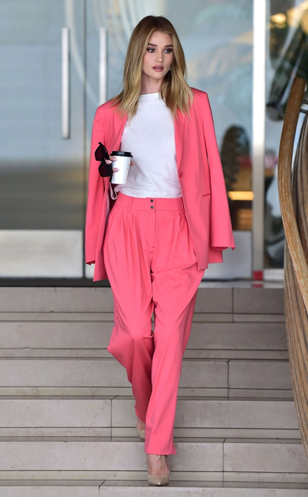 Rosie Huntington-Whiteley -  Pink and polished!