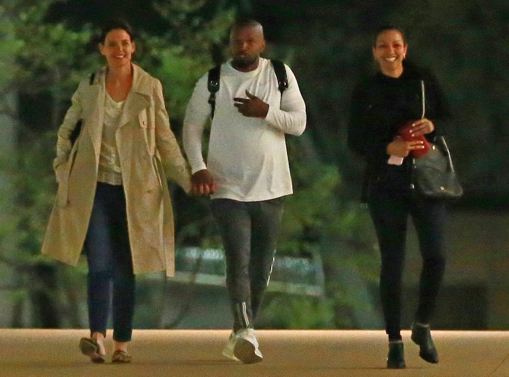 Night Out With the Fam -  The two take a stroll in L.A. with the actor's daughter Corinne Foxx .