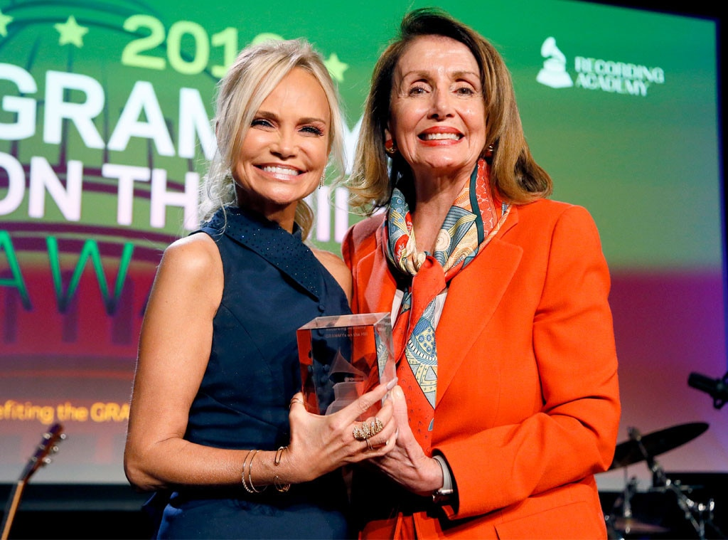 Kristin Chenoweth & Nancy Pelosi -  Worlds collide! The actress and member of congress are seen at the 2019 GRAMMYS on The Hill eventat The Hamilton in Washington D.C.