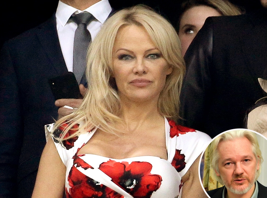 Julian Assange, Pamela Anderson