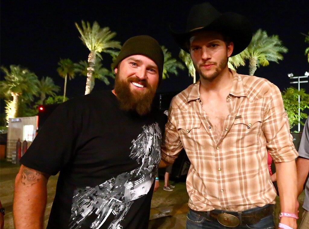 Zac Brown, Ashton Kutcher, 2013 Stagecoach