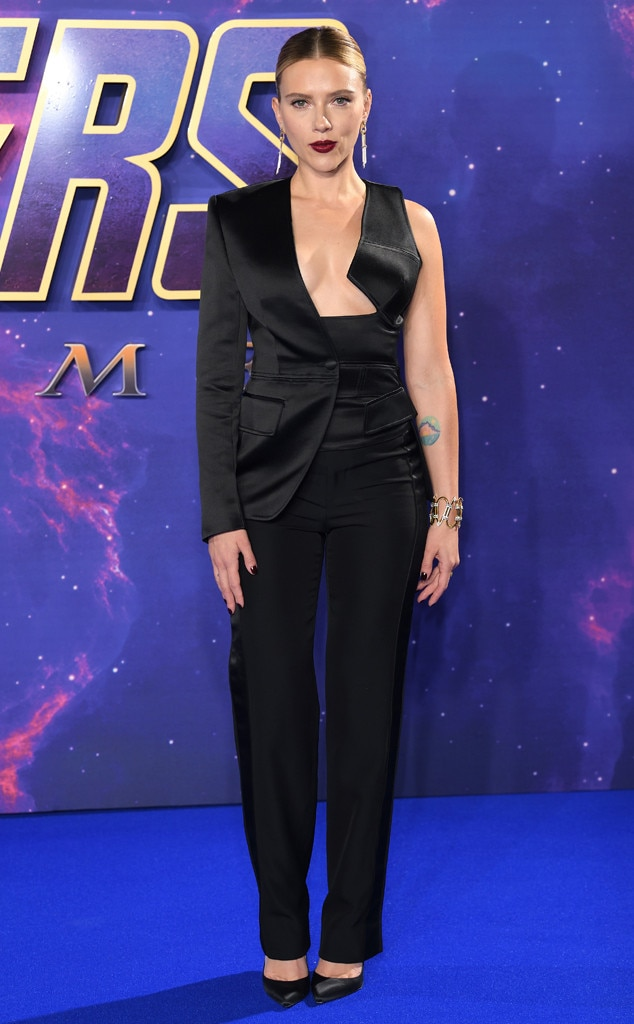 Black Widow in a Sexy Black Tux -  In Tom Ford