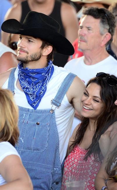 Ashton Kutcher, Mila Kunis, 2014 Stagecoach