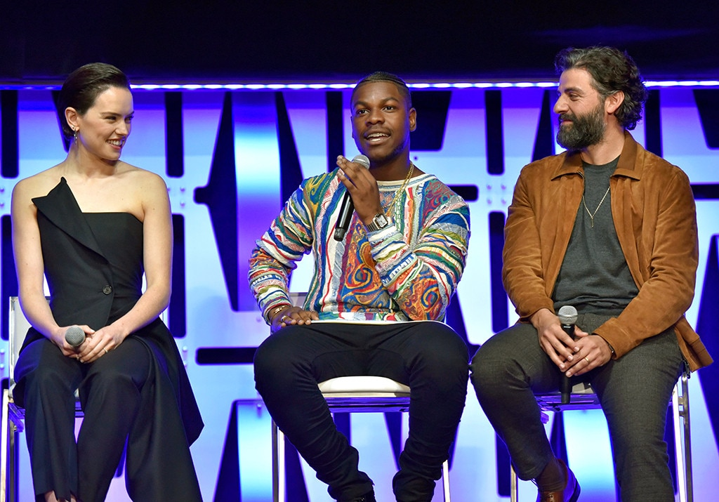 Daisy Ridley, John Boyega & Oscar Isaac -  Our heroes! The actors take part in a panel at the Star Wars Celebration in Chicago, on the same day that the  first trailer for  Star Wars: The Rise of Skywalker is released.