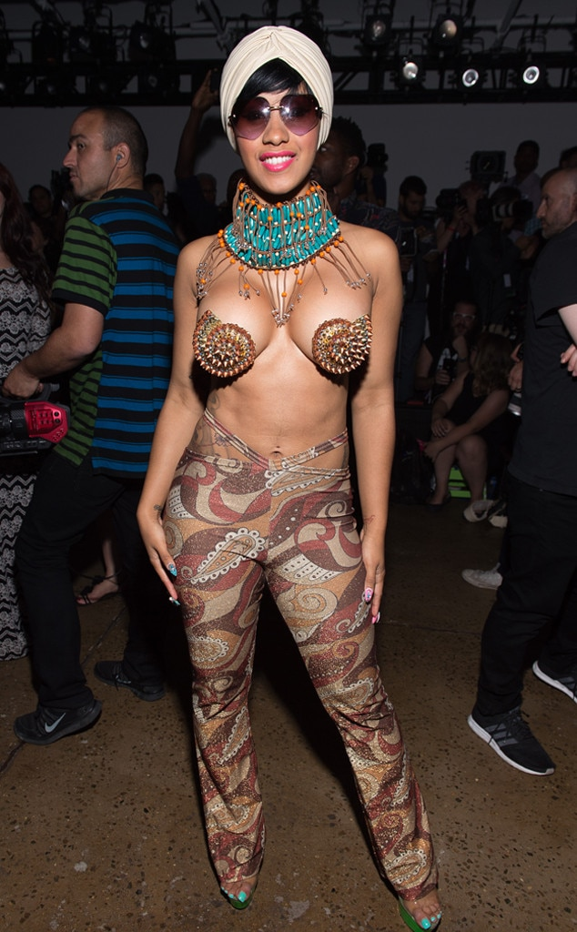 Va-Va-Voom -  Cardi B turns up the heat while at the NYFW The Shows with this jaw-dropping get-up.
