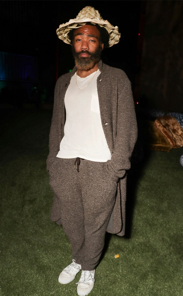 Donald Glover -  The  Guava Island  star looks ultra zenned-out in a casual-looking ensemble at the premiere on Thursday.