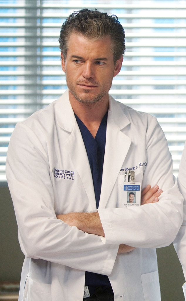 Eric Dane as Mark Sloan -  Mark also died in the plane crash of season eight, but not immediately. He made it back to the hospital and lived for a few days, but his injuries were too severe, and he was eventually unplugged, and went to be with Lexie in the afterlife.