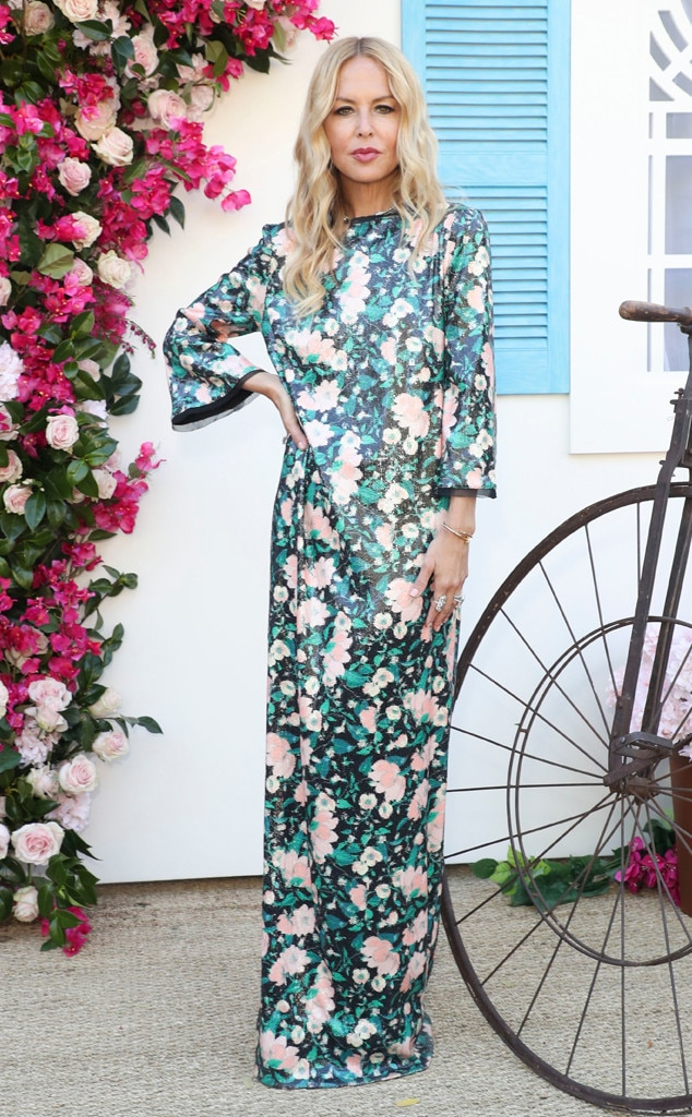 Rachel Zoe -  The fashion designer rocks a floral maxi at her 5th Annual ZOEasis Party.