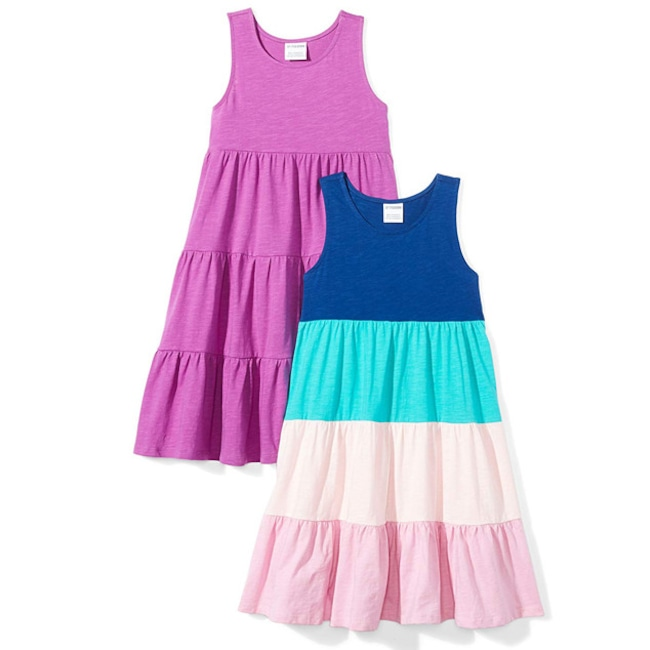 Best Easter Gifts on Amazon, Spotted Zebra Girls' 2-Pack Knit Sleeveless Tiered Dresses