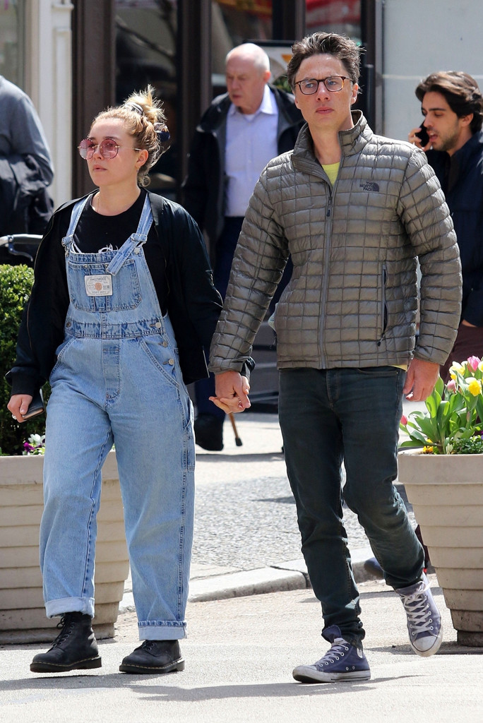 Zach Braff Is Spotted Holding Hands With British Actress Florence Pugh