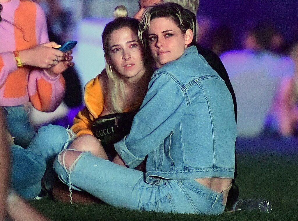 Kristen Stewart & Sara Dunkin -  The pair watch some of the acts on the Coachella stage.