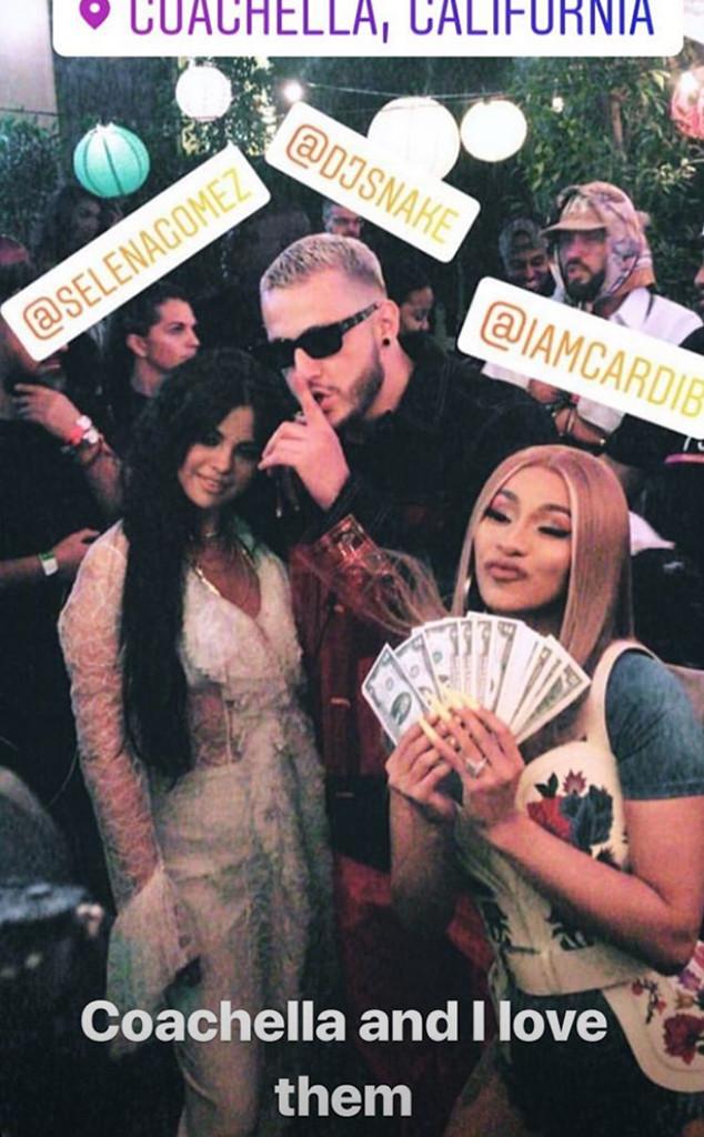 Selena Gomez, Cardi B, DJ Snake, Coachella 2019
