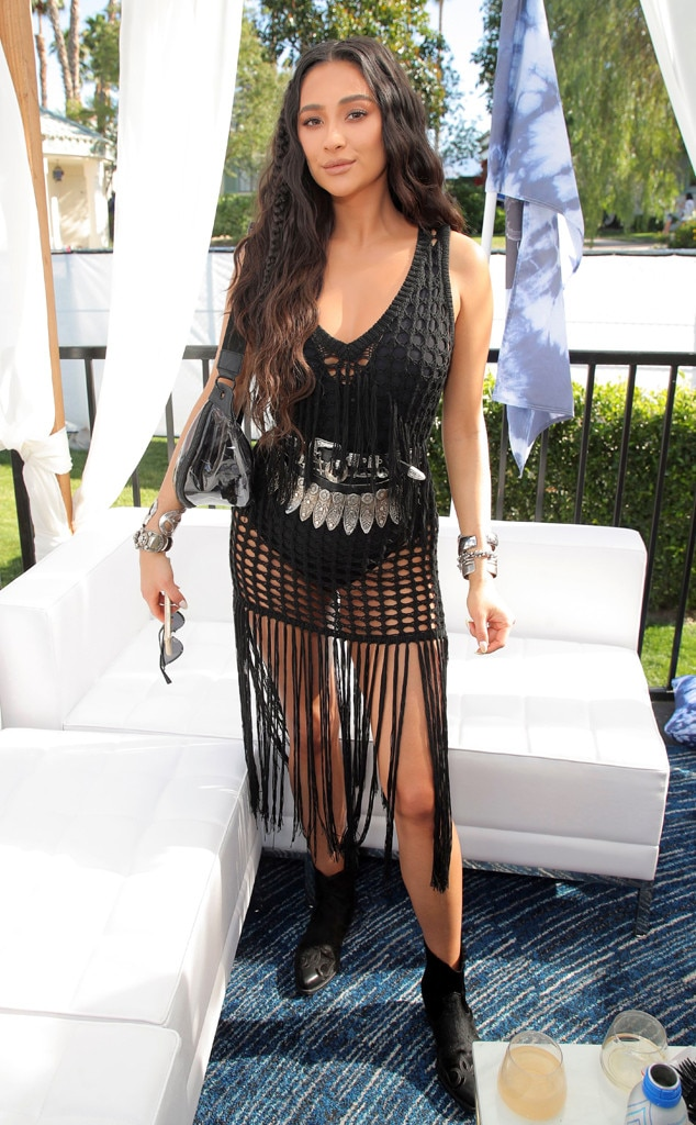 Shay Mitchell -  Shay Mitchell is back in black at a Coachella party on Saturday, April 13.