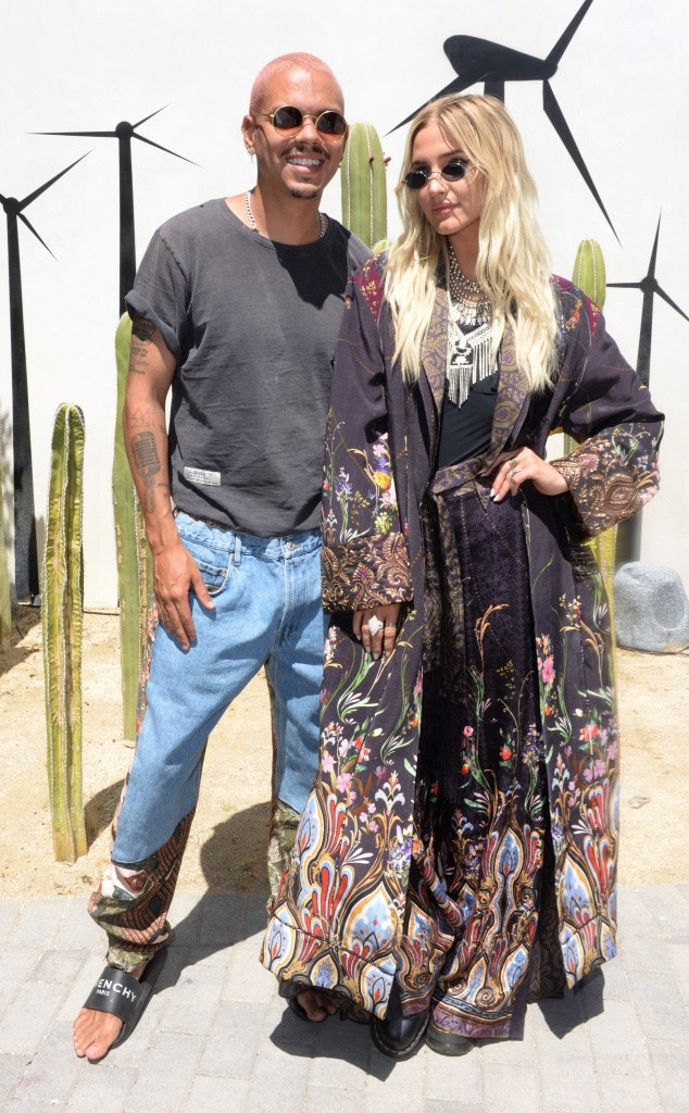 "Ashlee Simpson-Ross & Evan Ross -  ""  Evan is always next level,"" the singer and actress shared at Lucky Brand x  Rolling Stone  Live's Desert Jam while wearing Camilla."