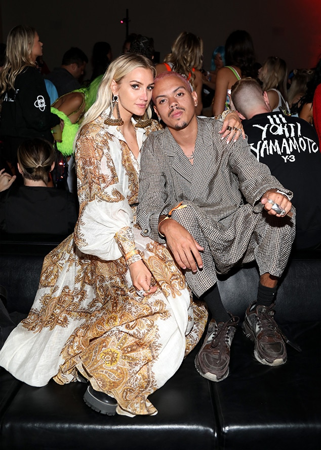 Ashlee Simpson Ross and Evan Ross -  The married couple get cozy at the TAO X Revolve Desert Nights bash.