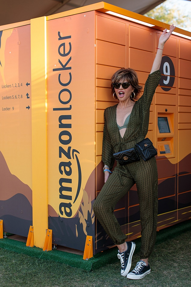 Lisa Rinna -  The  Real Housewives of Beverly Hills  star is also spotted by the  Amazon  lockers.