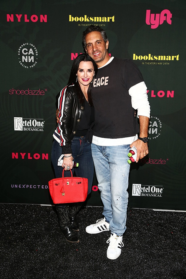 Kyle Richards and Mauricio Umansky -  The  Real Housewives of Beverly Hills  star poses with her husband at  NYLON 's Midnight Garden Party.