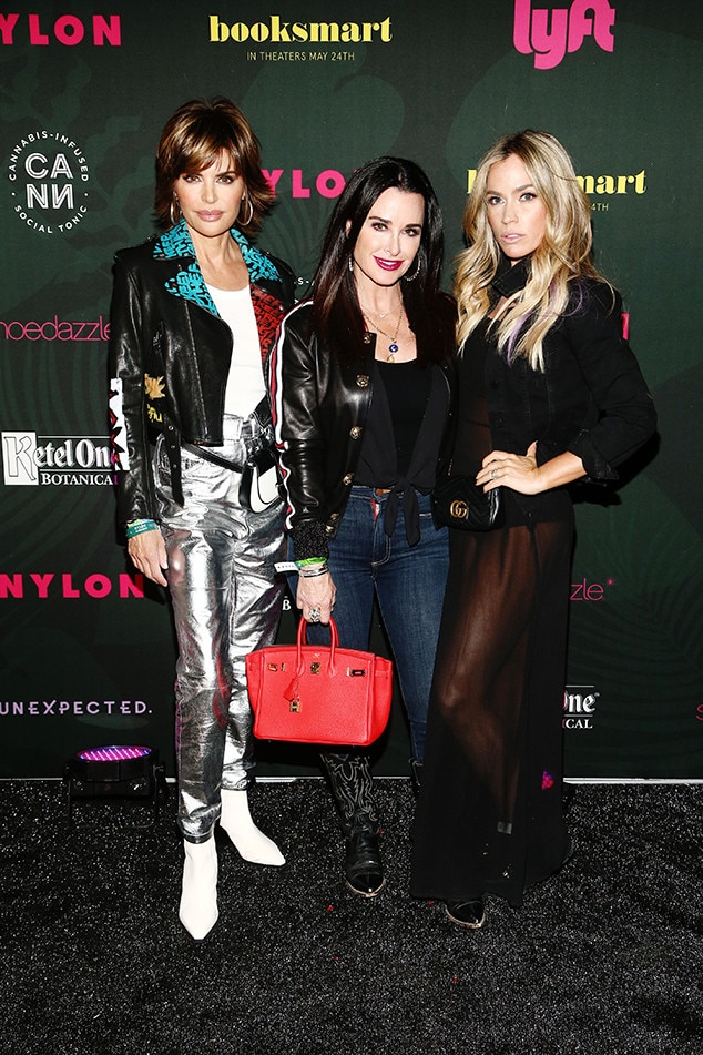 Kyle Richards, Teddi Mellencamp and Lisa Rinna - Real Housewives of Beverly Hills  hit up  NYLON 's Midnight Garden Party.