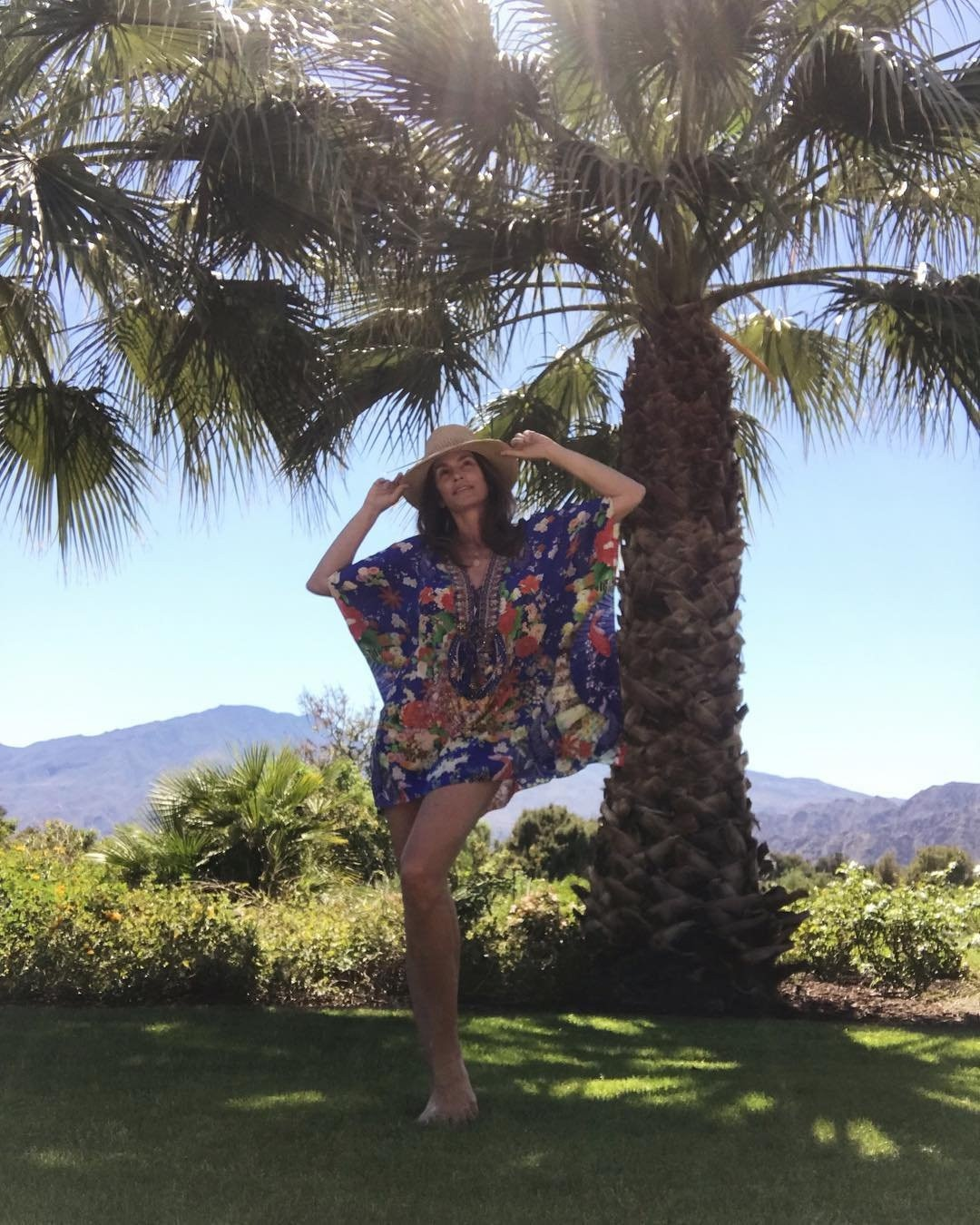 Cindy Crawford -  When it comes to Coachella fashion, sometimes less is more!