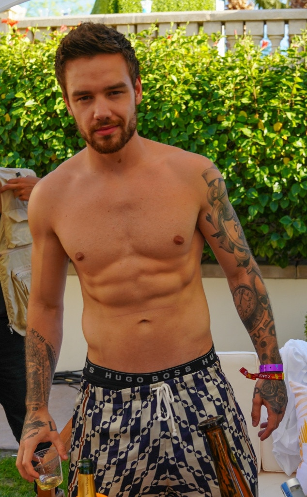 Liam Payne -  No shirt? No problem for the One Direction member who shows off his Hugo Boss boxers at the  Bootsy Bellows Pool Party presented by McDonald's & PacSun.