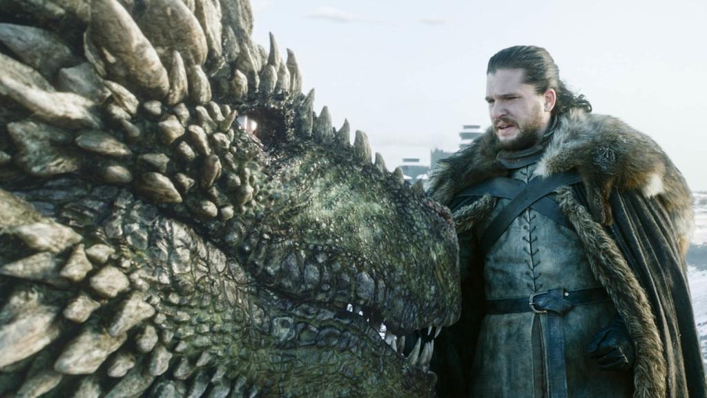 Dragon Whisperer -  Jon Snow with a dragon.