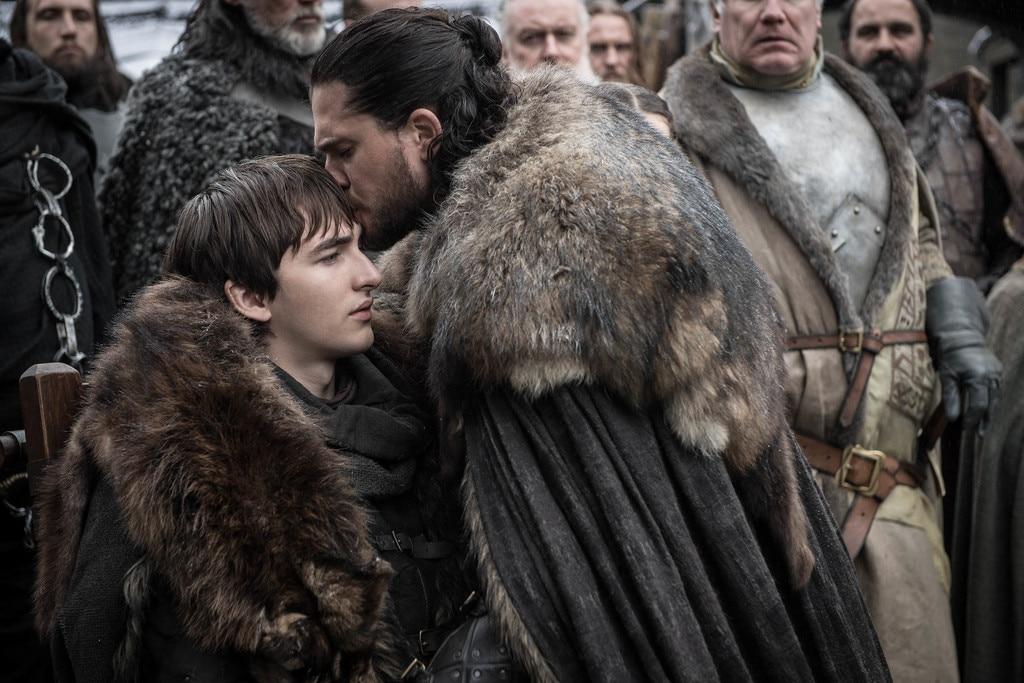 Reunited -  Bran Stark and Jon Snow, together again.