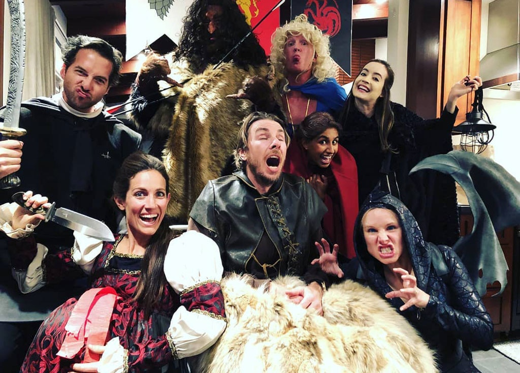 Game of Thrones  Party! - Game of Thrones  superfans Kristen and Dax celebrated the premiere with their pals, including her  Veronica Mars  co-star, Ryan Hansen.