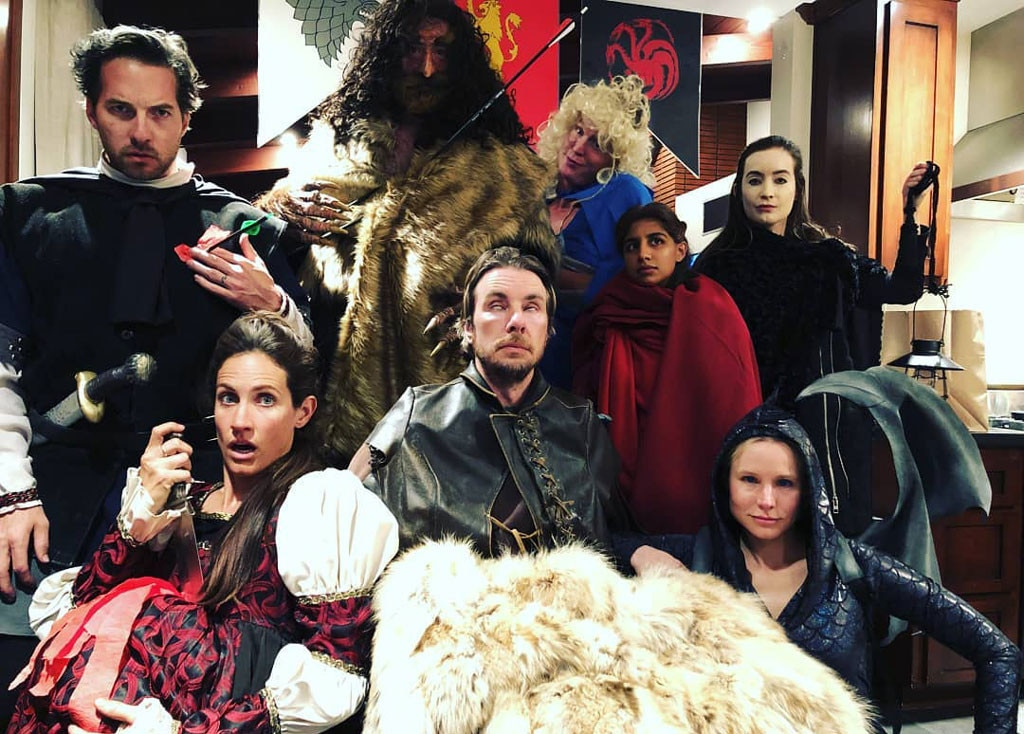 """Raging Throners"" -  Ryan captioned this squad pic, showing the group dressed up in costumes, ""Raging Throners!!!!"""