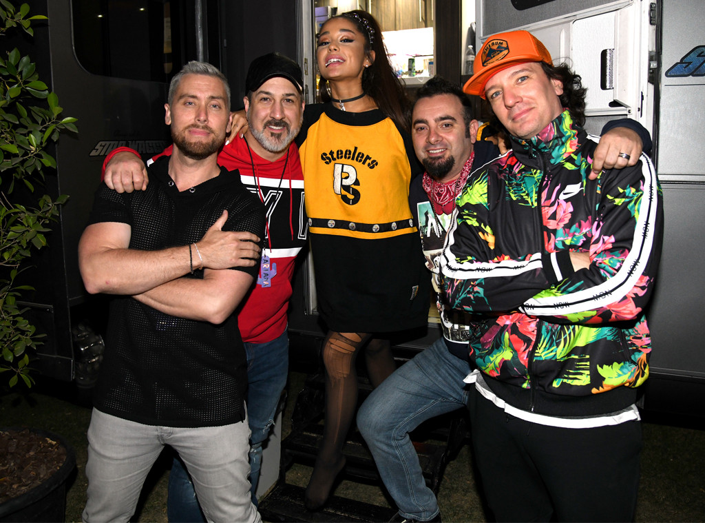 Ariana Grande, NSYNC, Lance Bass, Joey Fatone, Chris Kirkpatrick, JC Chasez, 2019 Coachella