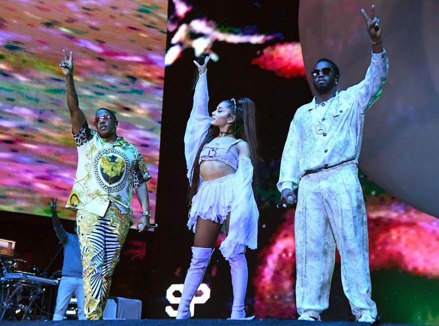 Ariana Grande, Mase, Diddy, 2019 Coachella