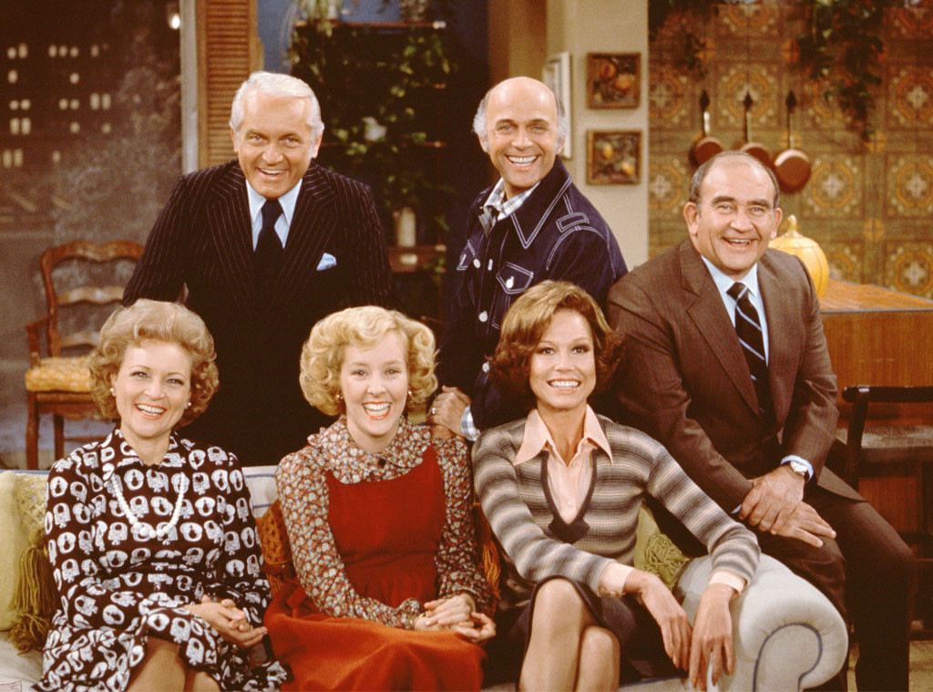 Ted Knight, Georgia Engel, Gavin McLeod, Mary Tyler Moore, Betty White, Ed Asner, Mary Tyler Moore Show