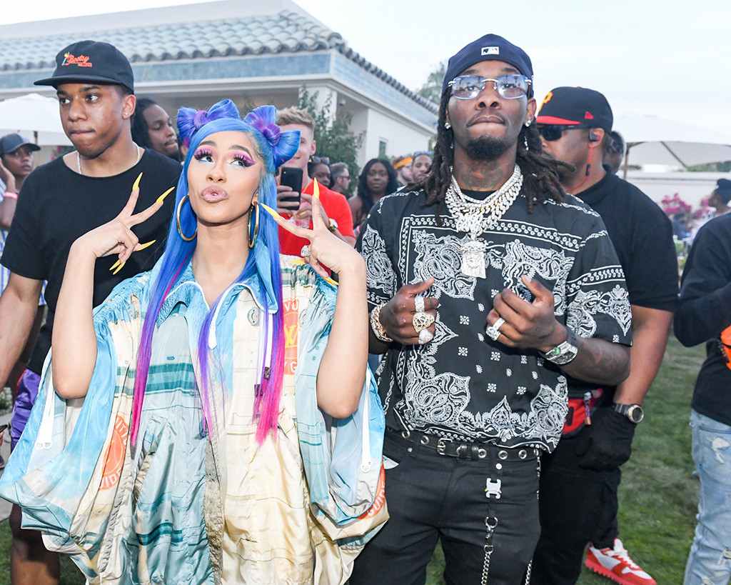Cardi B Packs on the PDA With Offset During Surprise Revolve Festival Performance
