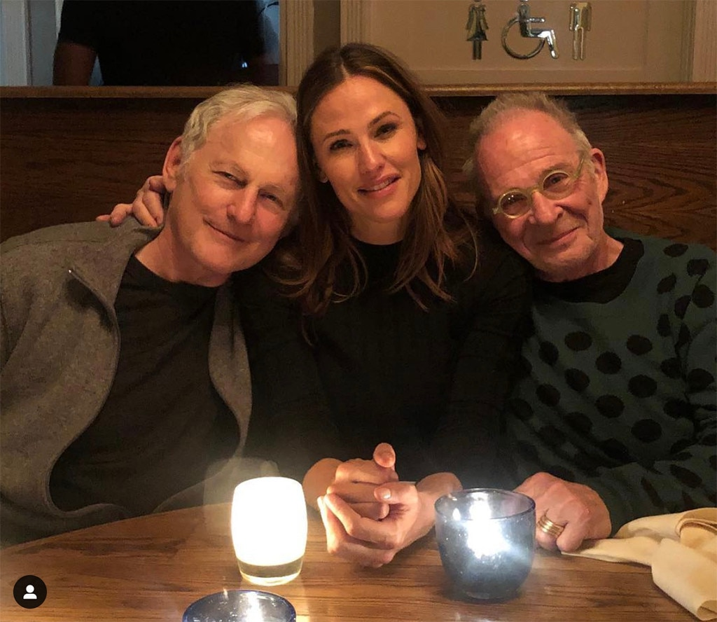 "Alias  -  ""A mini reunion in New York City—former castmates, favorite dinner dates, forever playmates. ♥️♥️♥️ Photographed by my favorite artist, @rainerarts,"" Jennifer Garner  wrote on Instagram  of this pic with Victor Garber and Ron Rifkin."