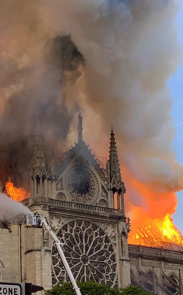 Camila Cabello, Anne Hathaway and More Stars React to Notre Dame Fire