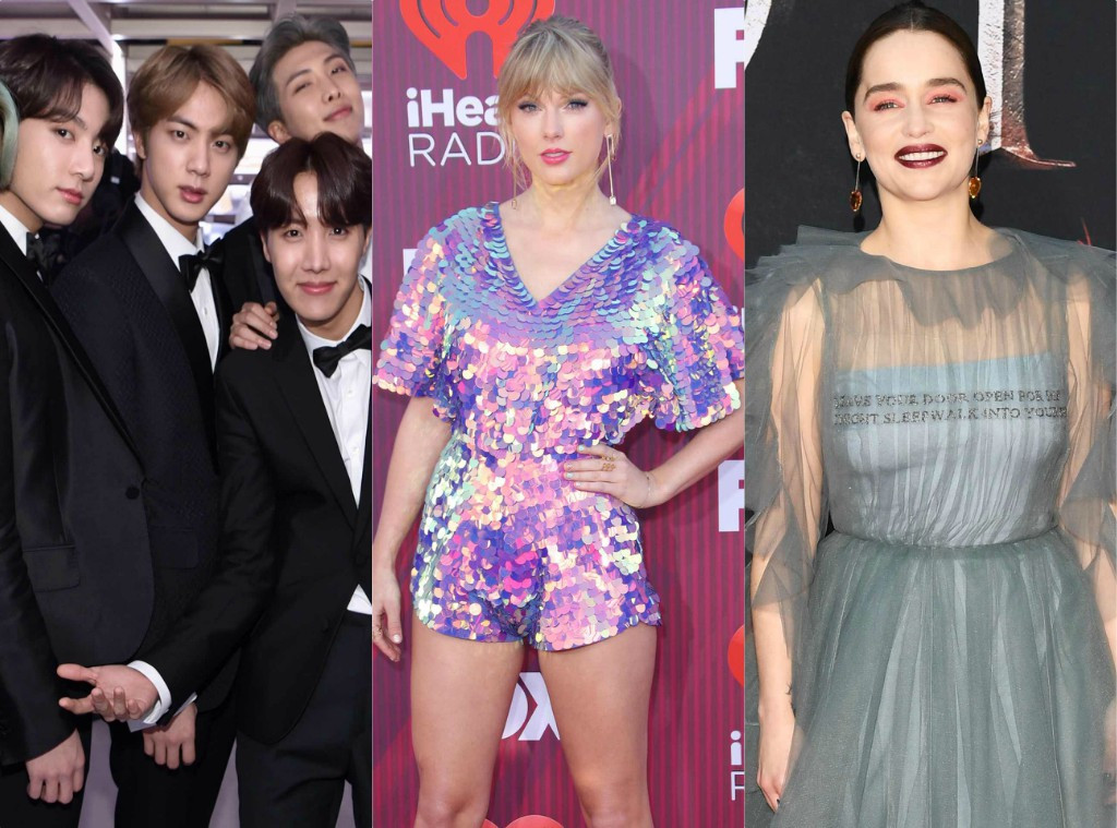 BTS, Emilia Clarke, Taylor Swift