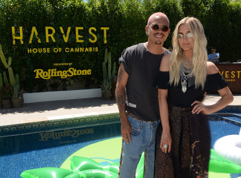 Ashlee Simpson-Ross & Evan Ross -  The Hollywood couplestop by theHarvest House of Cannabis with Rolling Stone Live duringweekend one.