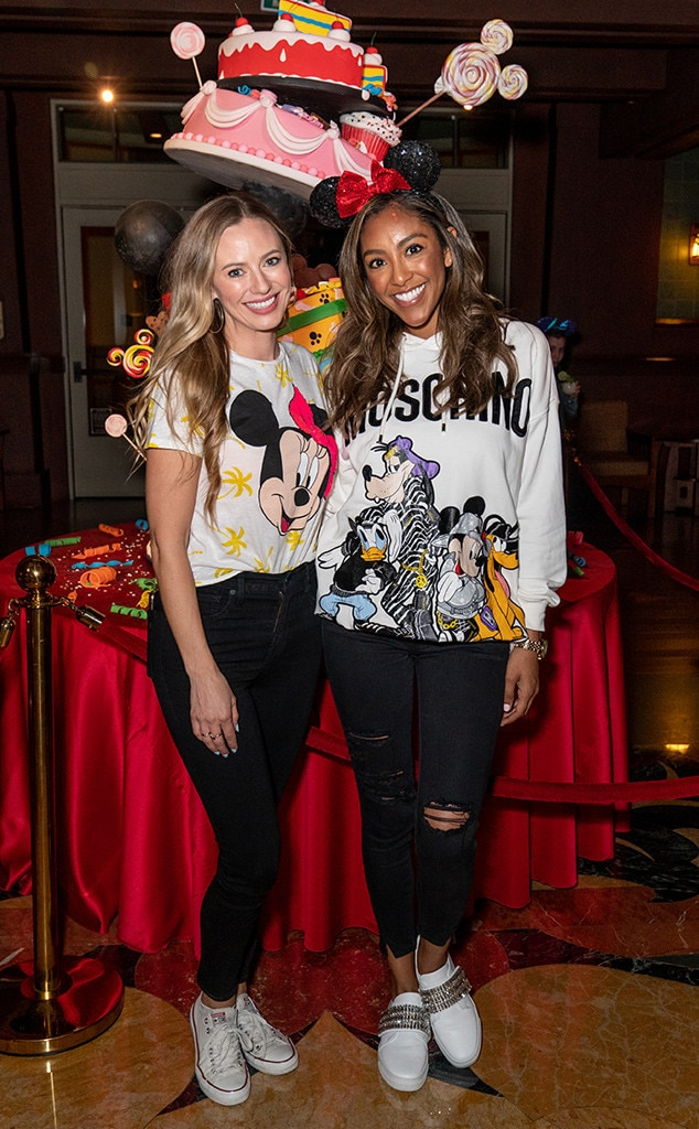 Tayshia Adams & Annaliese Puccini - The Bachelor  fan-favorites meet up at Disney's Grand Californian Hotel & Spa before enjoying Disney's California Adventure Park with The Woody Show.