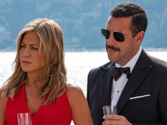 Jennifer Aniston and Adam Sandler Reunite in First Pics of Netflix Movie <i>Murder Mystery</i>