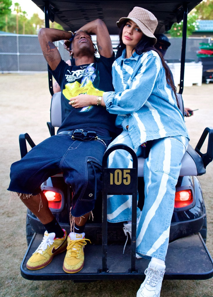 Travis Scott & Kylie Jenner -  The couple, who first sparked romance rumors at the music festival in 2017, are photographed on a golf cart.